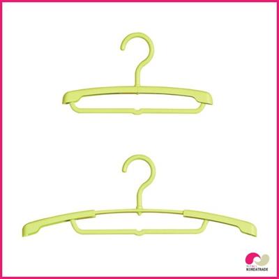 【日用品】 スライド子供ハンガー(Slide Little Hanger)3本組3セットライムの画像