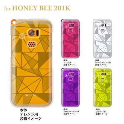 【HONEY BEE ケース】【201K】【Soft Bank】【カバー】【スマホケース】【クリアケース】【トランスペアレンツ】【トライアングル】 06-201k-ca0021jの画像