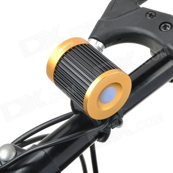 【クリックで詳細表示】RUSTU D11 Cree XM-L T6 692lm 4-Mode White Bicycle Headlamp - Black + Golden (2 x 18650)