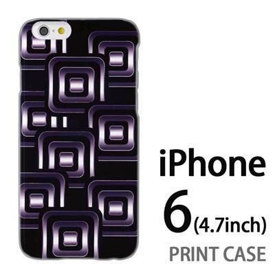 iPhone6 (4.7インチ) 用『No3 スクエアスタンプ 黒』特殊印刷ケース【 iphone6 iphone アイフォン アイフォン6 au docomo softbank Apple ケース プリント カバー スマホケース スマホカバー 】の画像