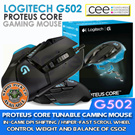 [G.W.S]  Logitech G502 Proteus Core Tunable Gaming Mouse. Limited 3 year Warranty. GAMING-GRADE DUAL-MODE HYPER-FAST SCROLL WHEEL/IN-GAME DPI SHIFTING/11 PROGRAMMABLE BUTTONS!