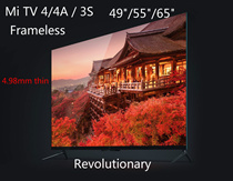 55/60/65inches Xiaomi tv 4A/3S smart LED 4k tv free latest us/hk drama movies