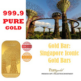 Gold Bar: Singapore Iconic Gold Bars by puregold.sg- Gardens by the Bay souvenir / gifts / SG50 / merlion / gift / gold coin