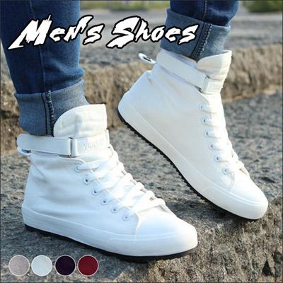 インヒールスニーカー  春夏ブーツ  フラット靴 シューズ メンズハイカットスニーカー スニーカー ショートブーツ 大人カジュアルシューズ 韓国ファッション  シンプル 潮靴
