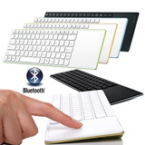 [best seller]Mini Slim Wireless Bluetooth Keyboard Multi-touch Touchpad_promo terbatas