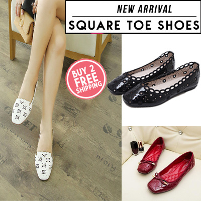 [Size(34-43)] NEW ARRIVAL Square Toe Shoes Flat sandals?Women Sandals Deals for only S$49.9 instead of S$0