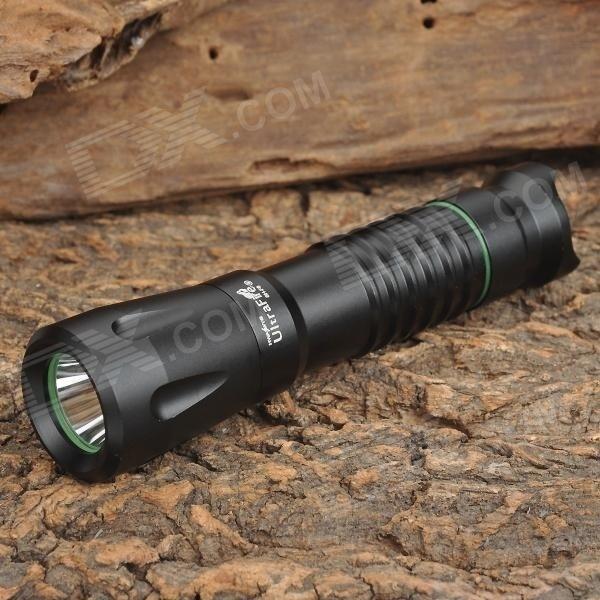 【クリックで詳細表示】UltraFire SH-F6 Cree XM-L T6 850lm 3-Mode Memory White Light Flashlight - Black (1 x 18650)