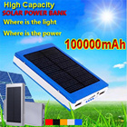 2015 Hot sale Solar Charger Power Bank 50000/80000/100000mAh New Portable Charger Solar Battery External Battery Charger Powerbank for iPhone6/6plus/5/5s/SamsungS6/s6 Edge/Note4/Xiaomi/LG/HTC