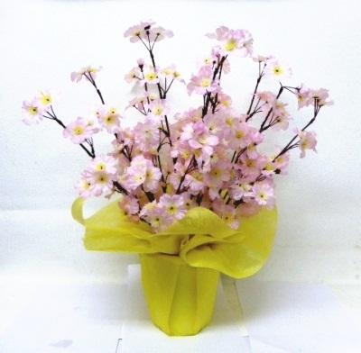 ●代引き不可送料無料桜 さくら 造花 ポットの画像