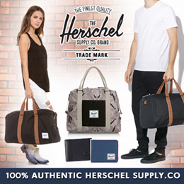❤100%Authentic Herschel Supply.Co❤ Novel Duffle Bags l Strand Duffle Bags l Wallets l Unisex