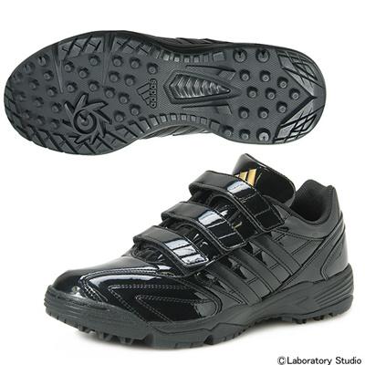 アディダス (adidas) adipure トレーナー(コアブラック×コアブラック×ゴールドメット) D73844 [分類:野球 トレーニングシューズ]の画像
