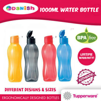 qoo10 tupperware aquasafe eco water bottle 1000ml 16 colours bpa free best kitchen dining. Black Bedroom Furniture Sets. Home Design Ideas