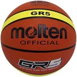 モルテン(molten) ジウジアーロラバーバスケットボール5号球 BGR5MY 【バスケットボール 屋外向け ストバス ミニバス】