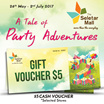 [The Seletar Mall] FREE GIVEAWAY $5 Cash Voucher on Selected Stores. No Min Spendings Required.