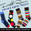 DESIGN LONG SOCKS HAPPYSOCKS [NEW] [by Fourth Room] Woman Man/ Invisible Boat Ankle Loafer/ Anti slip Gel Elastic/ New design/ Fast delivery/ Local seller