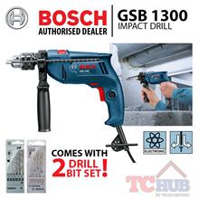 Bosch GSB 1300 IMPACT DRILL C/S 2 SETS DRILL BIT SET. Powerful 550 watt motor with 13mm keyed chuck.