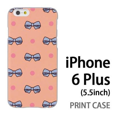 iPhone6 Plus (5.5インチ) 用『1103 リボンドット ピンク』特殊印刷ケース【 iphone6 plus iphone アイフォン アイフォン6 プラス au docomo softbank Apple ケース プリント カバー スマホケース スマホカバー 】の画像