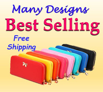 ☆ 4/8 Best Selling ☆ Korea Style / Card Holder /  Wrist Holder Ladies Purses