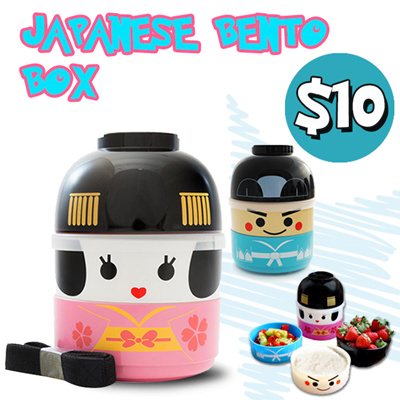 qoo10 young generation japanese bento lunch box cute lunch box free stor kids fashion. Black Bedroom Furniture Sets. Home Design Ideas