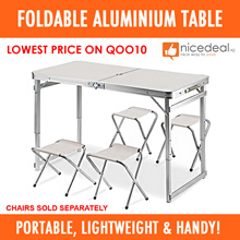 [Lowest Price] 120x60 / 70x50 Foldable Aluminium Table / 5 Colors Available!