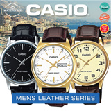[CHEAPEST PRICE IN SPORE] *CASIO GENUINE* MENS LEATHER FASHION SERIES 2! MTP1302L MTP1314L MTPV SERIES Free Shipping and 1 year warranty!