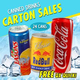 FN SEASONS Ice Lemon Tea 300ml 24 cans   Coca Cola( Coke normal) 330ml 24 cans/ carton