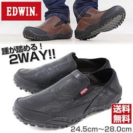 スニーカー スリッポン メンズ 靴 EDWIN EDM-6190 エドウィン