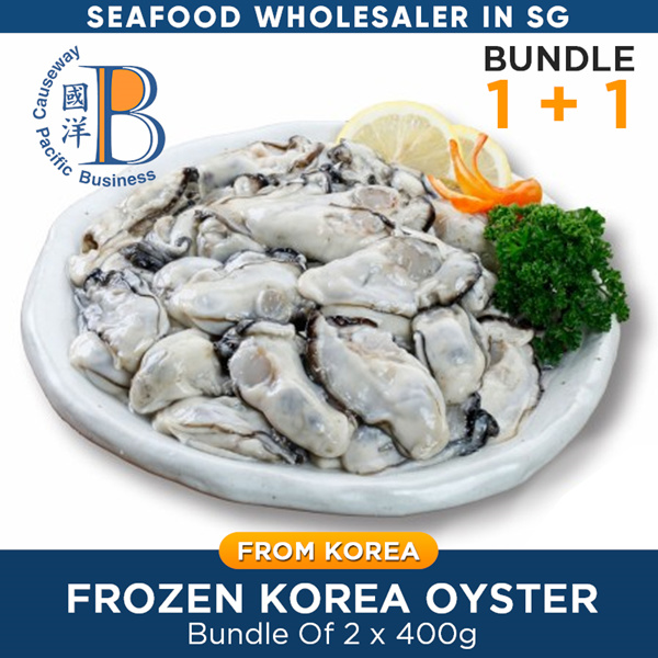 Frozen Korea Oyster Meat /Without Shell/400g x 2 /20-25pcs /BIG/ PRODUCT OF KOREA /WHOLE SALE PRICE Deals for only S$31.8 instead of S$0