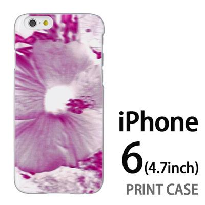 iPhone6 (4.7インチ) 用『No3 ネガ 花アップ』特殊印刷ケース【 iphone6 iphone アイフォン アイフォン6 au docomo softbank Apple ケース プリント カバー スマホケース スマホカバー 】の画像