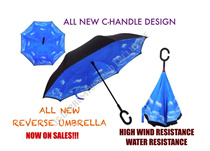 (XMAS GIFT IDEAS) LATEST NEW DESIGN REVERSE UMBRELLA WITH C-HANDLE! DOUBLE LAYERED! EASY AND LIGHT WEGHT! WINDPROOF!!! HIGH WATER RESISTANCE