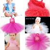 Baby Girls Chiffon Ruffled Pettidress Wedding Birthday Vintage Lace Rosette Party Tutu Kids dress