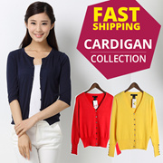 LADIES CARDIGANS SWEATERS KNITWEAR BLAZER JACKET OFFICE OUTER WEAR