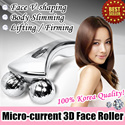 Micro Current 3D Face Roller for Lifting/Firming / Build Your V-Line / Anti-cellulite / Body Massage / Facial Care