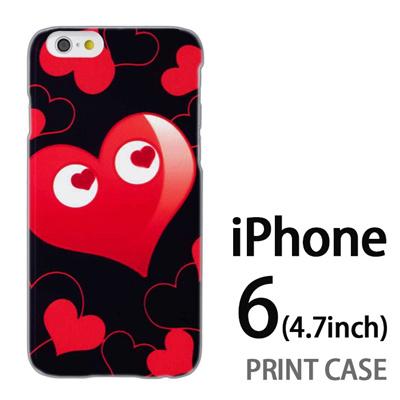 iPhone6 (4.7インチ) 用『No3 ハートマン 黒×赤』特殊印刷ケース【 iphone6 iphone アイフォン アイフォン6 au docomo softbank Apple ケース プリント カバー スマホケース スマホカバー 】の画像