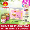 [Best Seller] Bottled Birdnest with Ginseng and White Fungus 6x75mlPromotion!! FREE 1 x Birdnest Ginseng and White Fungus 6x75ml + 1 x Bhutan Wild Honey 300ml!!