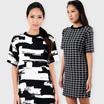 Monotone Shift Dress ~ 8 Prints