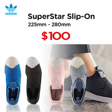 MAKE80$ ★Match Qoo10 coupon★Special offer★LIMITED Qty ★【adidas 100%AUTHENTIC /★2017  ADIDAS Superstar Slip On - all color ★