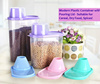 1.8L/2.5L Plastic Food Container Cereal Dry Foods Pet Food Spices Pasta Kitchen Storage Organiser