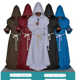 コスプレ 衣装 コスチューム ハロウィン クリスマス  中世僧侶服修士服服キリスト教会の牧師のローブシャーマン神父