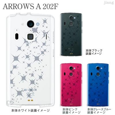 【ARROWS A 202F】【202fケース】【Soft Bank】【カバー】【スマホケース】【クリアケース】【チェック・ボーダー・ドット】【Clear Arts】【スターダスト】 06-202f-ca0021tの画像