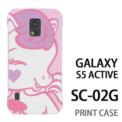 GALAXY S5 Active SC-02G 用『0313 キュートホース ピンク』特殊印刷ケース【 galaxy s5 active SC-02G sc02g SC02G galaxys5 ギャラクシー ギャラクシーs5 アクティブ docomo ケース プリント カバー スマホケース スマホカバー】の画像