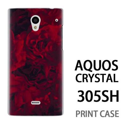 AQUOS CRYSTAL 305SH 用『0311 薔薇 赤』特殊印刷ケース【 aquos crystal 305sh アクオス クリスタル アクオスクリスタル softbank ケース プリント カバー スマホケース スマホカバー 】の画像
