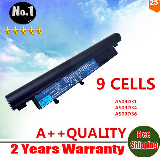 【クリックで詳細表示】Wholesale New 9cells laptop battery for ACER 3810T 4810T 5810T AS09D31 AS09D34 AS09F34 AS3810T AS4810TG AS09D70