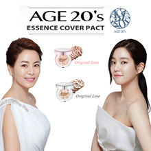 [AGE 20s] Essence Cover Pact ( Case + 2 Refills + 2 Puffs + Tint + jell cream / serum ) KOREA