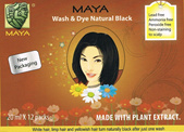 Maya Wash and Hair Dye Shampoo with natural herbs (Black)