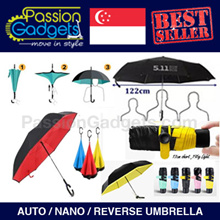 [SG SELLER} ★Many Designs★Reverse Umbrella / 511 Tactical Large/ Nano ULTRA SMALLEST★ 99% UV