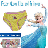 ★ Free shipping ★ Good quality Cheap! Frozen Girl Premium underwear panties set (a set of 6) / Frozen Elsa Sofia Waltz Panty
