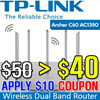 [TP_LINK] Archer C60 AC1350 Wireless Dual Band Router l Wifi Repeater l /2 years global warranty