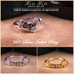 【2017 New Product + Free Shipping】925Silver Nameplate Ring♥Couple Ring♥Wrapping Free