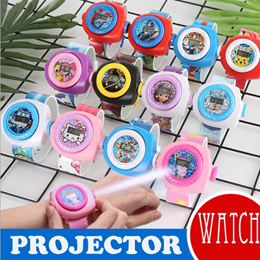 Cute Projector Watch for Kids Children Christmas Gift Cartoon Watches Hello Kitty